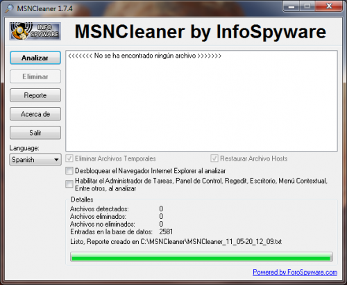 MSNCleaner 1.7.5 - Download 1.7.5
