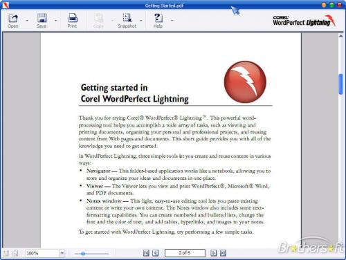 Corel WordPerfect Lightning 1.0 Beta