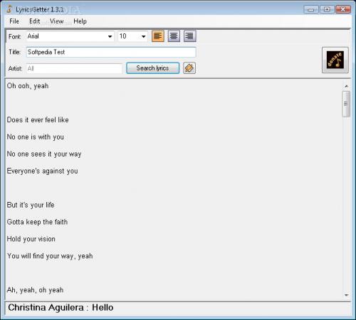 LyricsGetter 1.0