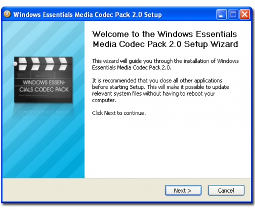 Windows Essentials Codec Pack 3.6