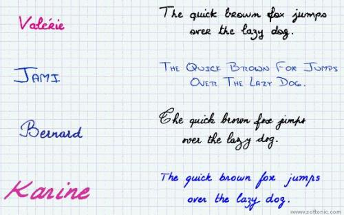 17 handwriting fonts - Download 15.1