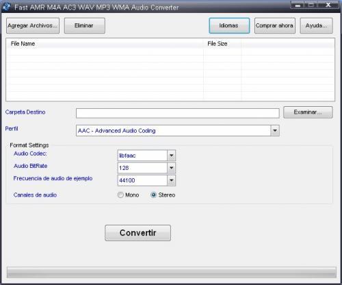 Fast AMR M4A AC3 WAV MP3 WMA Audio Converter 2.5