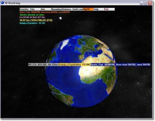3D World Map 2.0