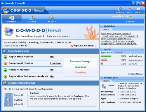 PC Tools Firewall Plus - Download 7.0.0.111